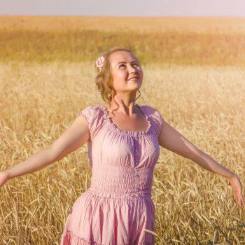 Фотосъемка в поле, пшеница